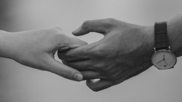 hold hands with love