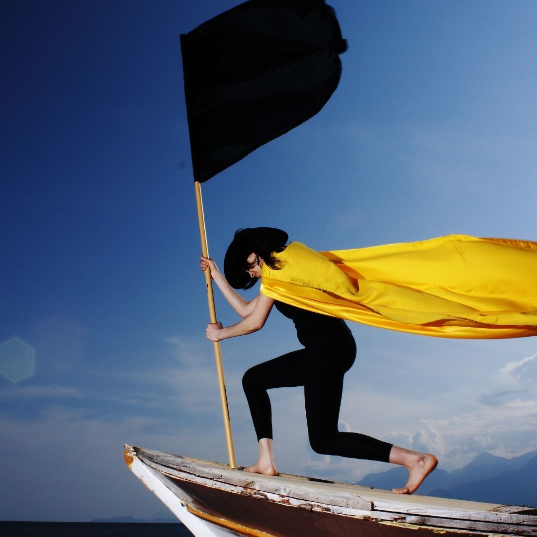 Super hERO WITH YELLOW FLAG