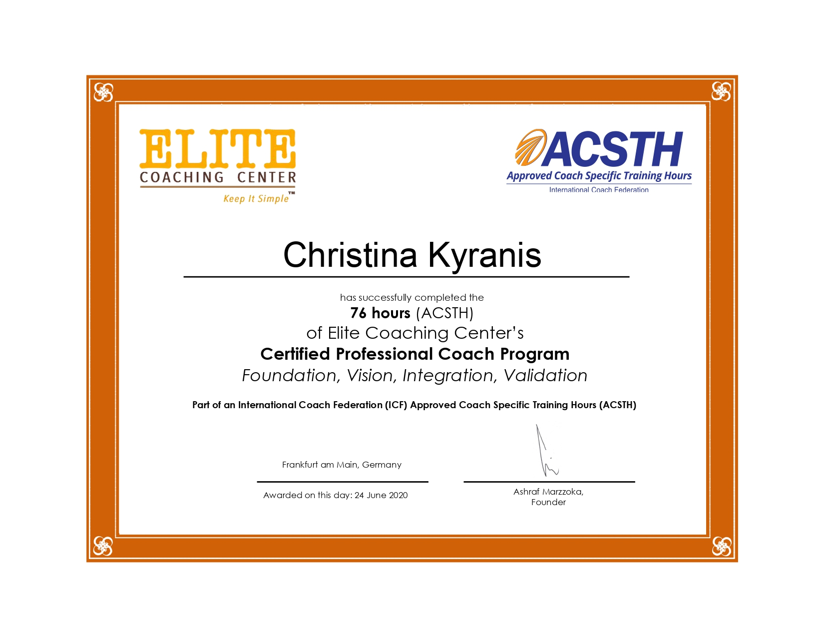 Counseling Certificate